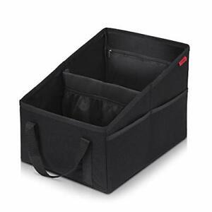 Organisateur De Coffre Voiture Boite Rangement Pliable Avec 2 Porte Gobelets Ebay