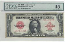 Legal Tender Fr# 40 1923 $1 Legal Tender red seal  PMG 45 Choice EF