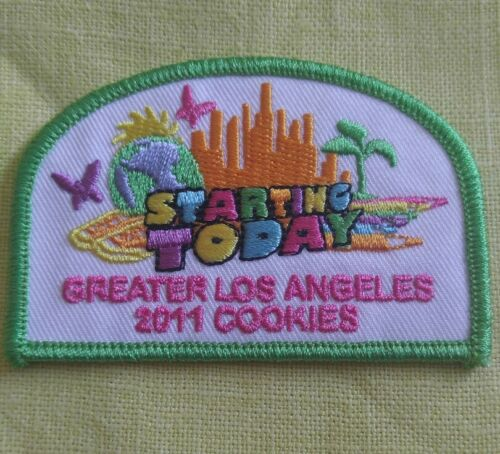 2011 SPECIAL Cookie Patch STARTING TODAY Colorful Girl Scouts RARE greater LA