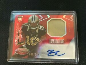 2014-BRANDIN-COOKS-CERTIFIED-RED-AUTO-PATCH-RC-88-249-Rookie-RAMS-Saints