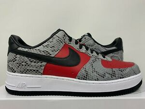 yo Casa dolor  Nike Air Force 1 bajas PRM por usted Supreme Piel De Serpiente Rojo Blanco  13 SB Alto de Max | eBay