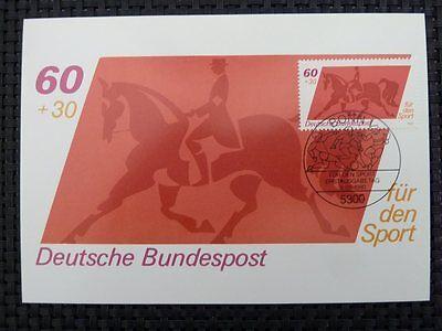 Brd Mk 1980 1047 Reiten Dressur Pferd Horse Maximumkarte Maximum Card Mc 6842