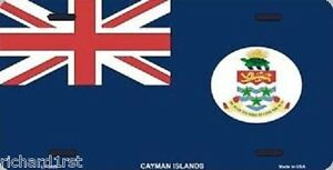 "Aluminum National Flag Cayman Islands ""License Plate"" NEW"