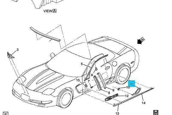 1997 2004 C5 Corvette Genuine Gm Z06 Rear Brake Duct Scoop Vent Kit