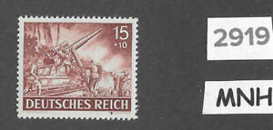 #2919    MNH stamp / 1943 /  PF15 + PF10 / Military Wehrmacht  / WWII Germany