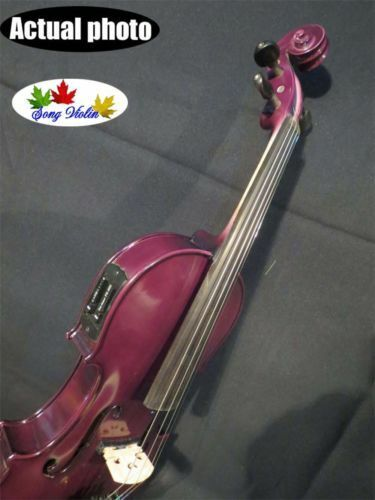 Beautiful Purple colors solid wood electric & acoustic violin 4 4