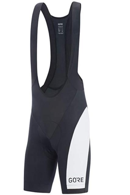 Cycling Bib Shorts Padded Santini Photon 2.0 C3 Black Medium Elastic Compression