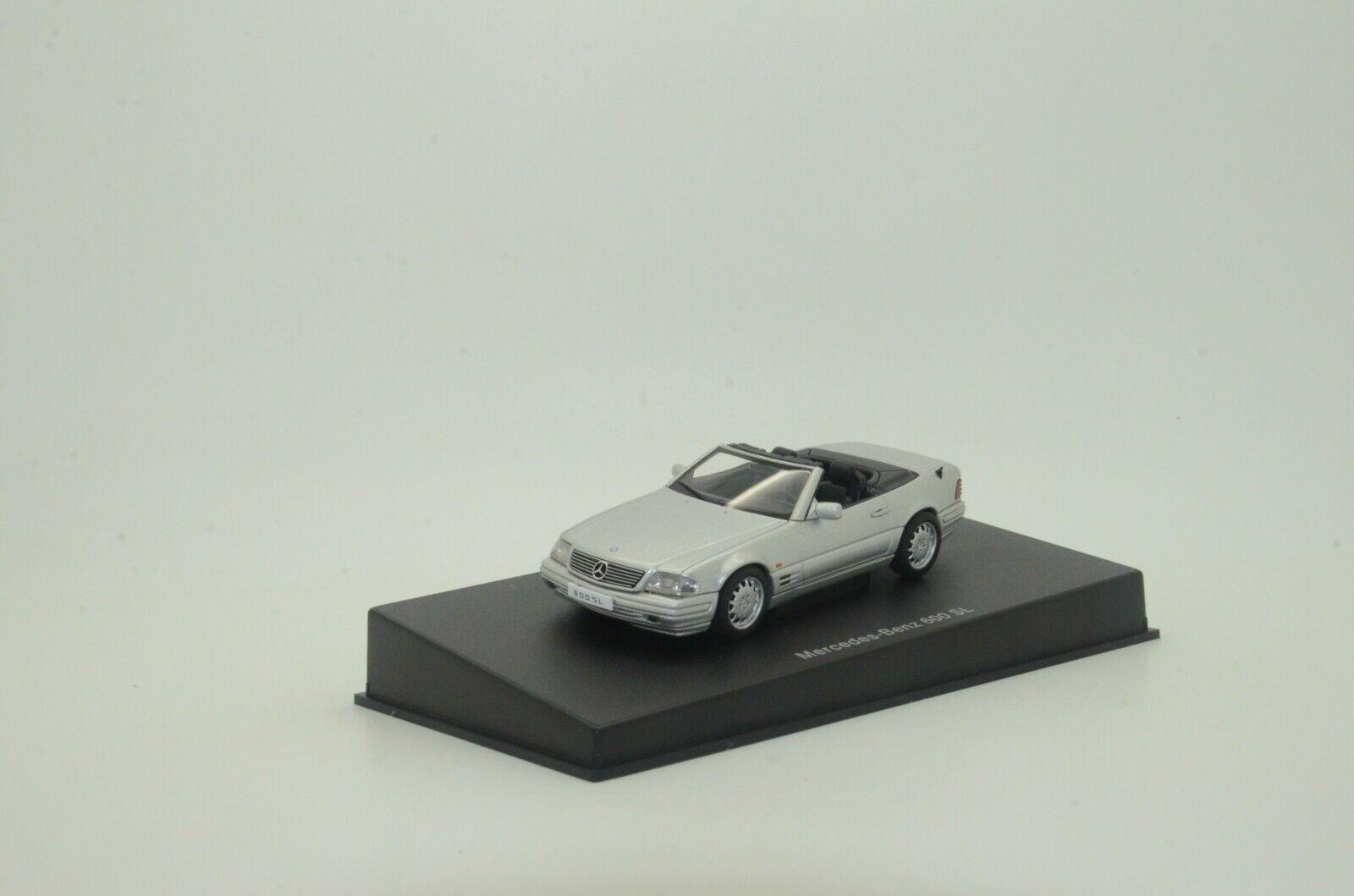 Raro  Mercedes 600 Sl Cabrio Autoart 56231 R129 Plata 1 43
