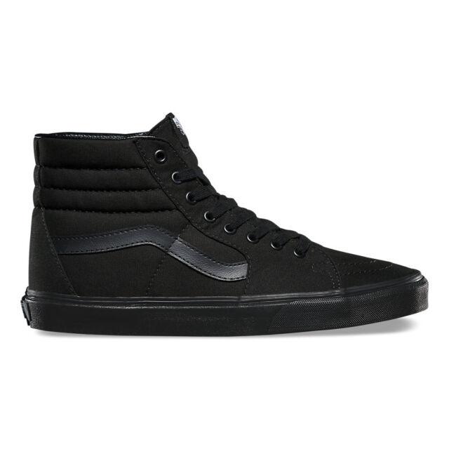 91b7b11626 Vans SK8 HI Black Black Black Skateboarding Shoes Classic Canvas All Sizes
