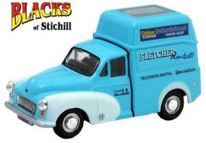 Oxford Diecast 1:43 Scale Morris Minor High Top Van Fletcher Television Model