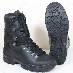 5a6f27122af Details about French Army Leather Combat Boots - Winter Gore-Tex Lined  Waterproof Hiking New