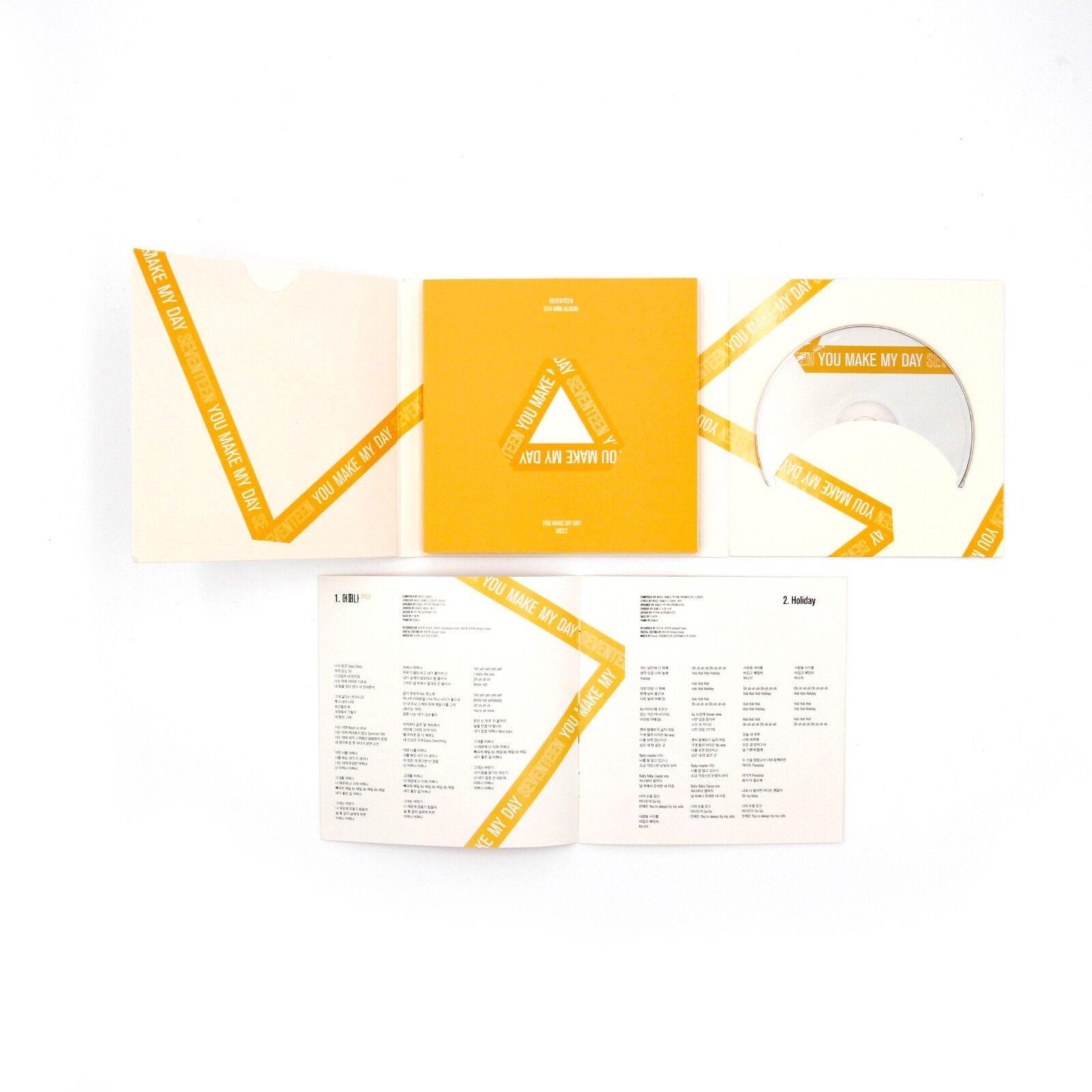 Seventeen 5th Mini Album You Make My Day 3cd Set 3 Poster
