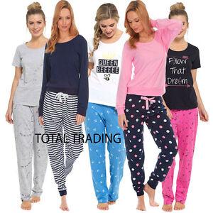 best website a44e3 889a2 Details about Ladies Womens Pyjamas pj Set Long Sleeve Top Nightwear  LoungeWear pajamas pyjama