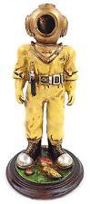 """7"""" Deep Sea Diver Figurine Nautical Statue With Mark V Helmet"""