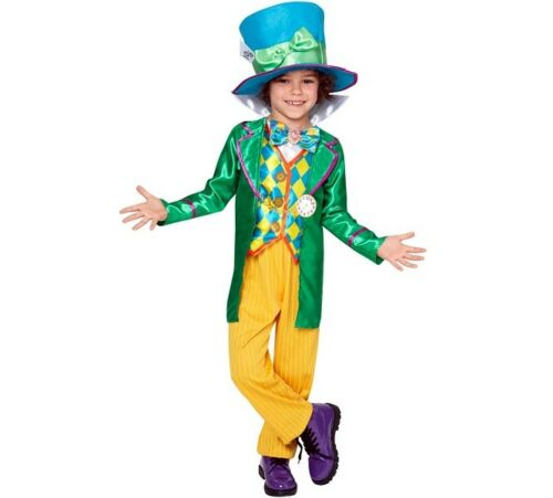 Childs Mad Hatter Boy Fancy Dress Costume Childs Book Day Kids Outfit by Rubies