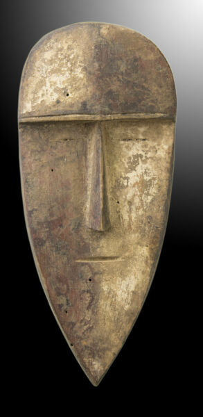 Buono Maschera Passaporto Diminutivo Africano Robert Aduma Gabon 17cm Arte Primo 16695