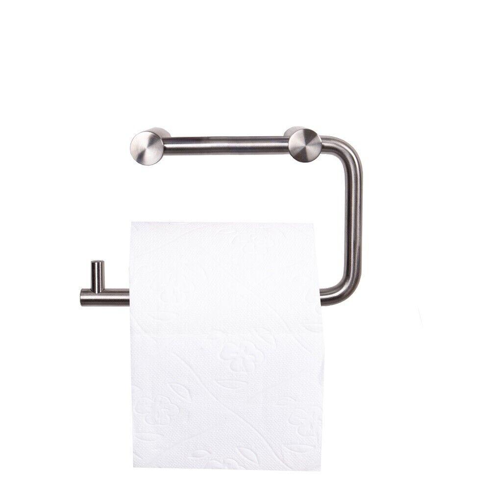 Massiv Edelstahl Badzubehör Toilettenpapierrolle Handtuchhalter matt gebürstet
