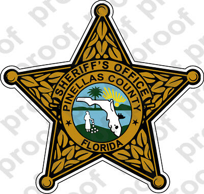 STICKER SHERIFF PINELLAS COUNTY BRZ B