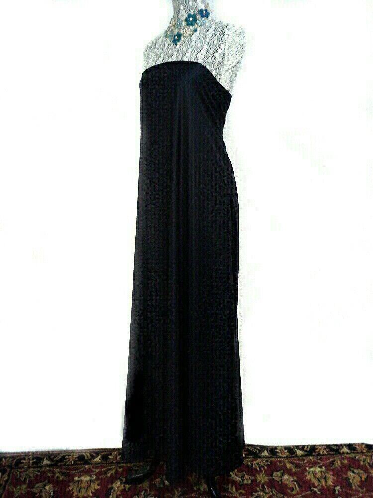 Free People Party Strapless Maxi Dress Formal Midnight Blau Plaid Größe 0