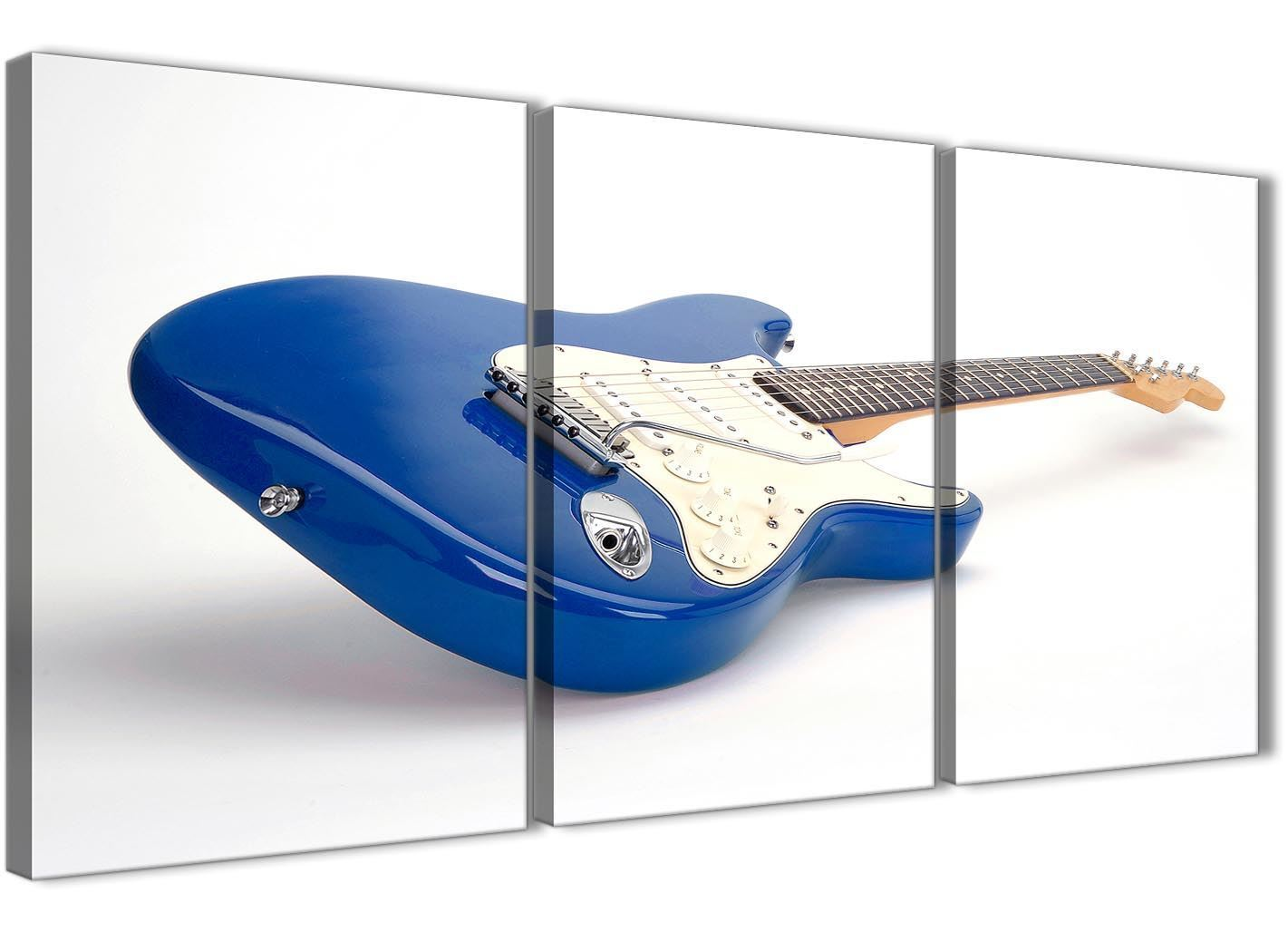 Panel blau weiß fender electric guitar office office guitar