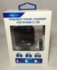 THE FX FACTORY POWABUD TRAVEL CHARGER IPHONE FOR IPHONE 5/5S