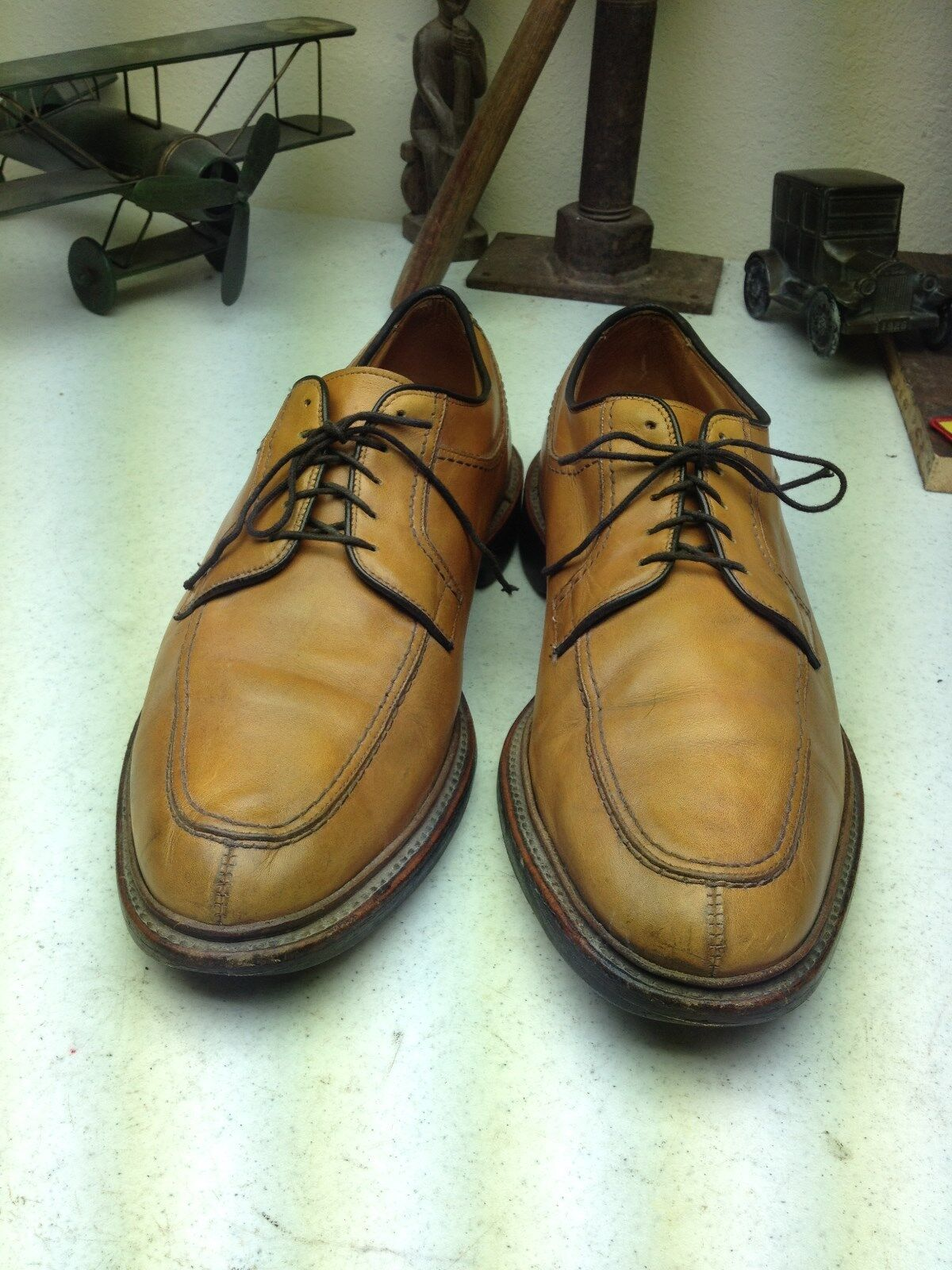 DISTRESSED ALLEN EDMONDS NORSE M TARD TARD TARD LEATHER LACE UP OXFORD  SHOES SIZE 11 E 4d7d8f