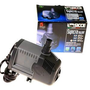 Sicce Syncra Silent Pump Model 5 0 1321 Gph 12 6 Ft