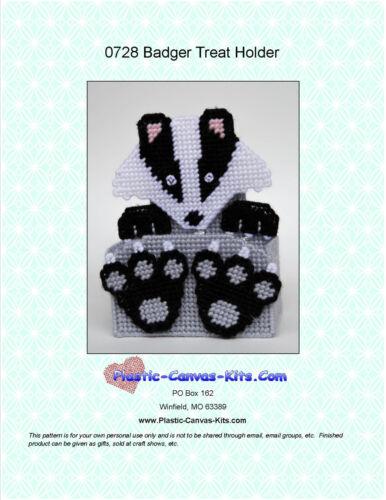 Plastic Canvas Pattern or Kit Badger Treat Holder
