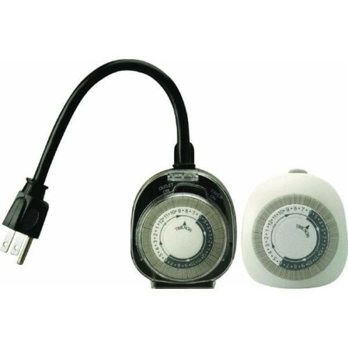 NEW Woods Outdoor Security Light Timer /& Indoor Air Conditioner Appliance 2-Pack