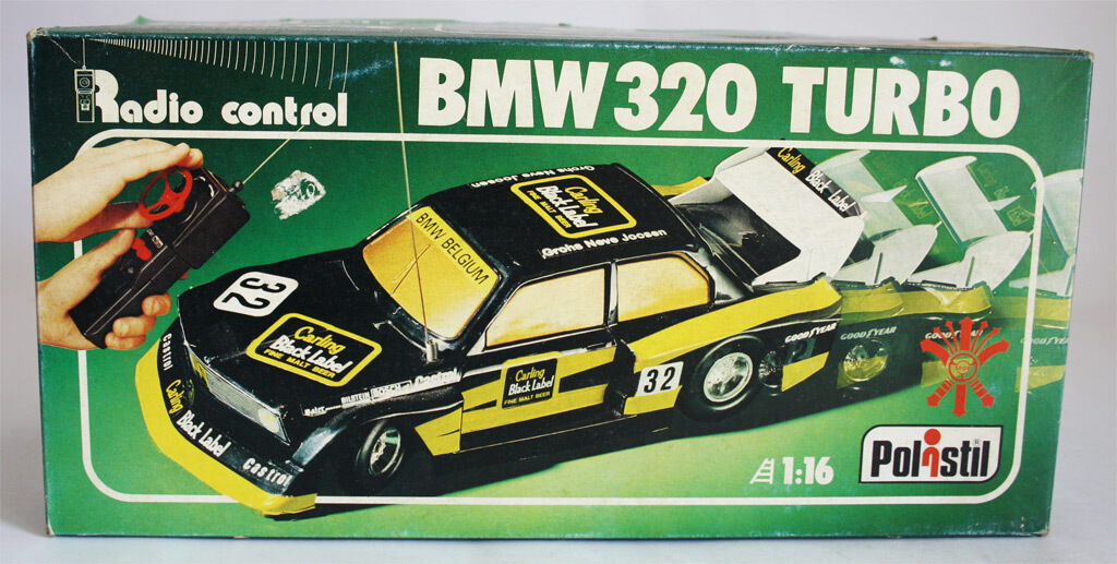 VERY RARE VINTAGE 1980 POLISTIL BMW 320 TURBO 1 16 MADE IN ITALY NEW MIB
