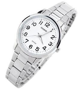 Casio-Women-039-s-Stainless-Steel-Silver-Watch-LTP1303D-7B-Quartz-Analog-Ladies-New