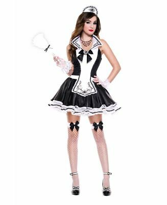 Badly Behaved Maid Costume Music Legs 70918