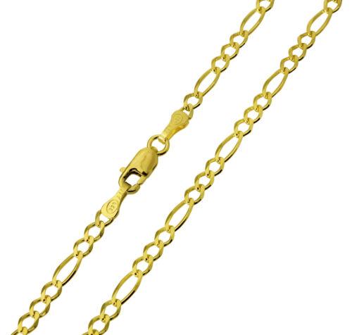 """14K réel or jaune Figaro Chaîne Collier 2.7 mm 24/"""" 1//8/"""" FEMMES /& ENFANTS"""