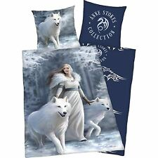 ANNE STOKES WOLVES SNOW QUEEN SINGLE DUVET COVER SET NEW COTTON BEDDING FREE P+P