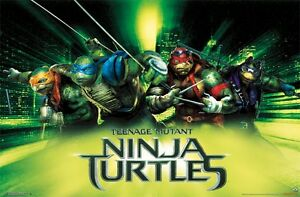 Teenage Mutant Ninja Turtles 2014 City 22x34 Poster Tmnt Leo Raph Mikey Ebay