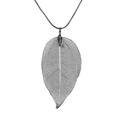 Fashion Women Leaf Sweater Pendant Necklace Ladies Leaves Long Chain Jewelry