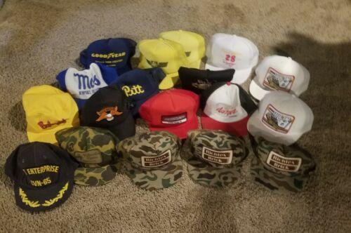 Vintage Lot Of Snapback Mesh Trucker Hats Harley P