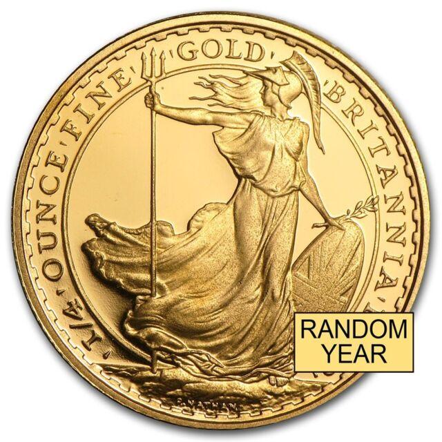 Great Britain 1/4 oz Gold Britannia BU/Proof (Random Year) - SKU #49771