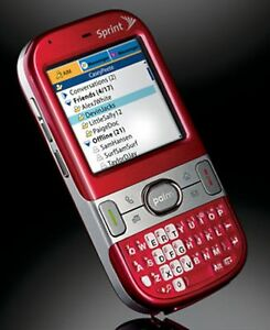palm centro 690 sprint pda cell phone treo ruby red qwerty internet rh ebay com
