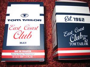 2-x-TOM-TAILOR-East-Coast-Club-MAN-30-ml-EdT-EAU-DE-TOILETTE-unbenutzt
