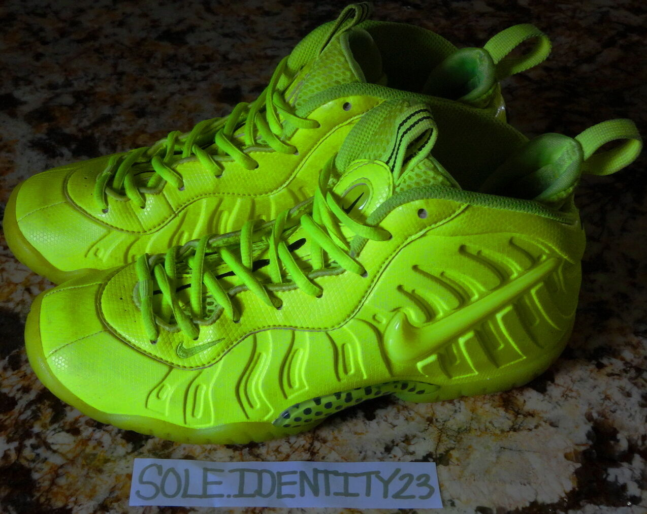 NIKE AIR FOAMPOSITE PRO ONE VOLT HIGHLIGHTER NEON Price reduction New shoes for men and women, limited time discount