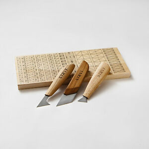 Wood carving knives set with basswood practice board for beginner