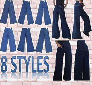 Jeans uomo vintage Anni 90 Baggy Larghi Largo Hip Hop Skate  taglia 2XS XS S M