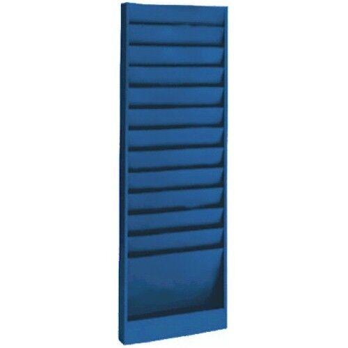 """12 Pocket Blue  9-3//4/""""W  x 6/""""D Pockets Model 173 Work Order Rack"""
