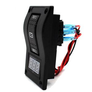 12V-Car-Marine-Digital-Voltmeter-LED-Dual-Battery-Test-Panel-Rocker-Switch-Boat