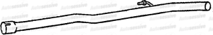 Renault Clio 1.9D F8Q Hbk Van 00-01 Exhaust Middle Pipe Spare Part Replace