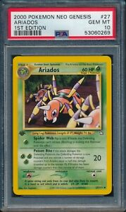 2000 Pokemon Neo Genesis 1st Edition ARIADOS #27 PSA 10 GEM MINT