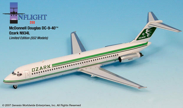 InFlight200 Ozark Airliines Airliines Airliines 1983 REG N934L Douglas DC-9-41 1 200 Scale RETIRED 5f2355