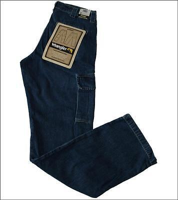 Neu Herren Original Wrangler Cargo Combat Gipfel Jeans Blau Bequeme Passform