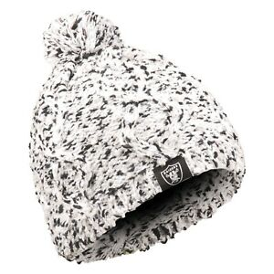 b3babd1e996b1b Oakland Raiders Chunky Knit Light Up Logo Beanie Winter Hat Toque ...